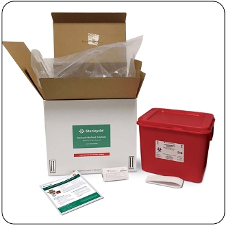 8 Gallon Mail-Back Medical Waste Disposal System